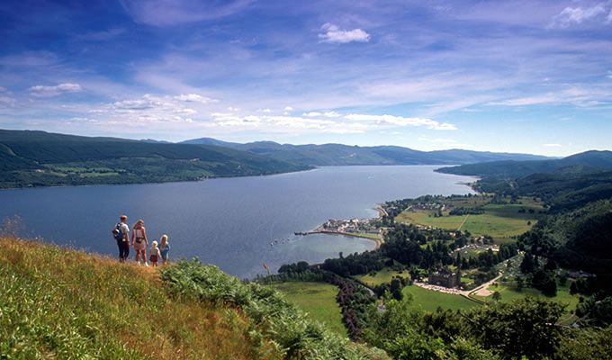 View of Inverary and Loch Fyne